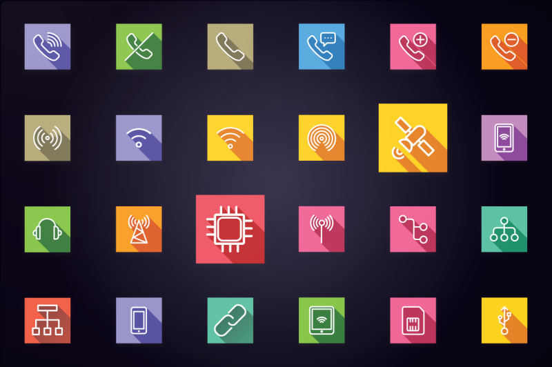 communication-and-network-flat-icons