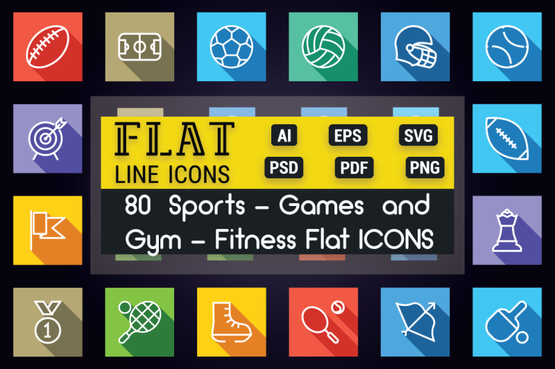sports-games-and-fitness-flat-icons