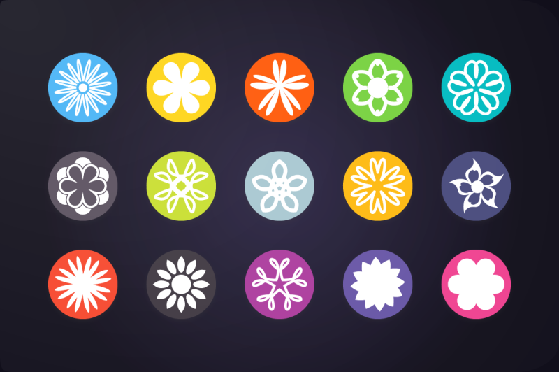 flat-icon-flower-icons