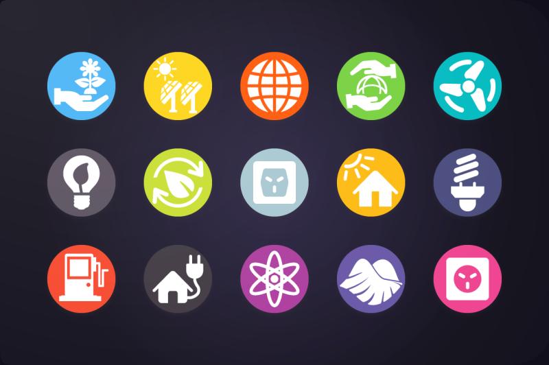 flat-icon-energy-icons-vol-1
