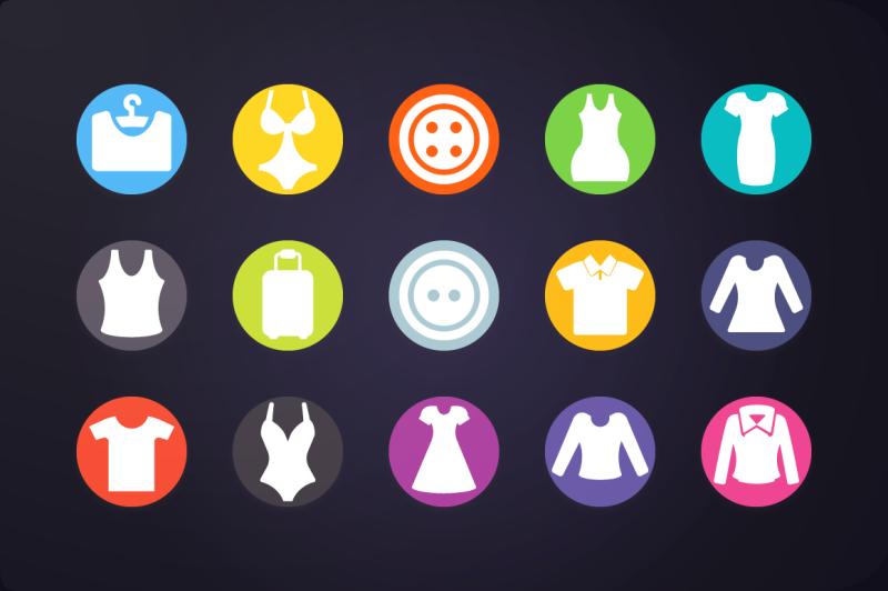 flat-icon-clothing-icons-vol-2