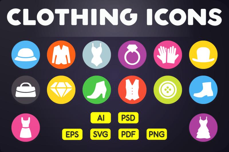 flat-icon-clothing-icons-vol-1