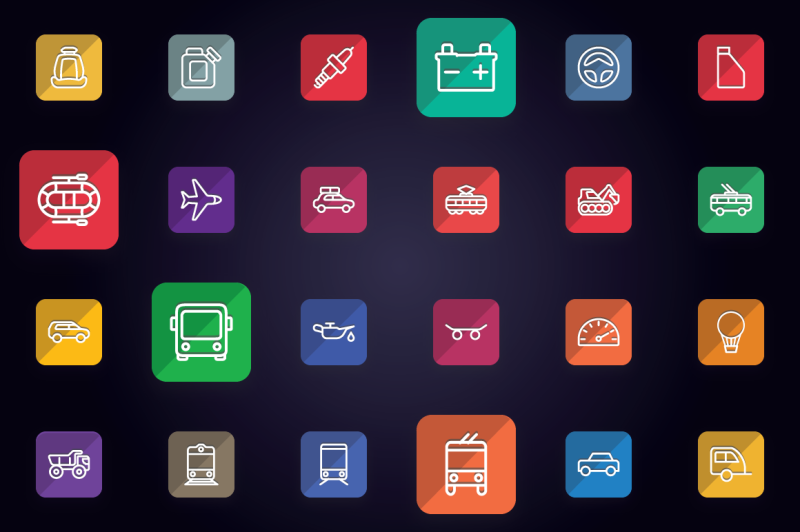 transport-vehicle-auto-service-icons