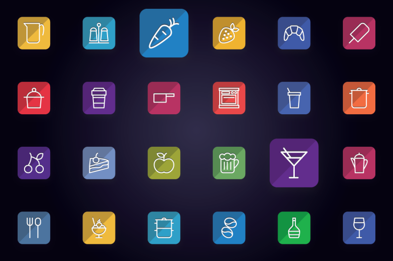 foods-drinks-and-kitchen-flat-icons
