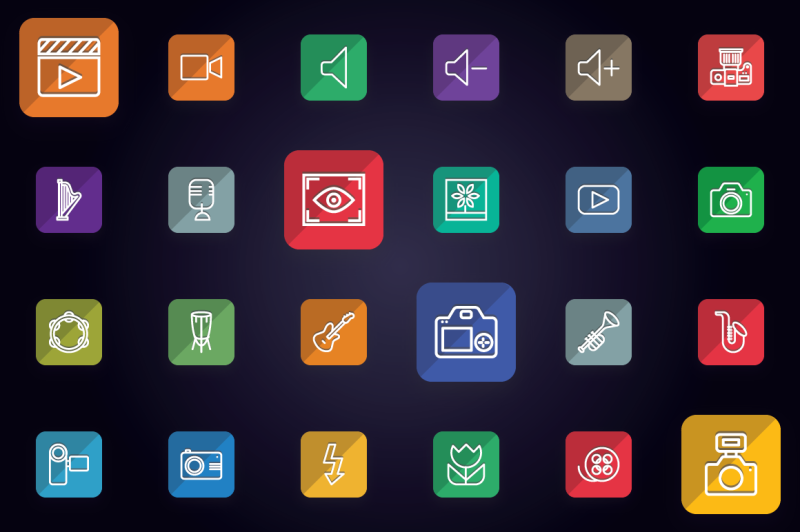 media-audio-video-and-photo-icons