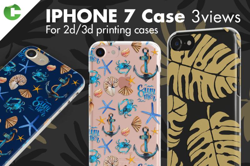 Free Iphone 7 case - 3 views (PSD Mockups)