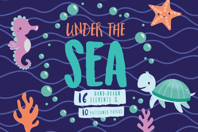 under-the-sea-sealife-digital-clipart-pack