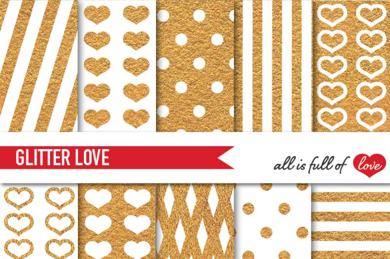 golden-glitter-digital-paper-pack-gold-background