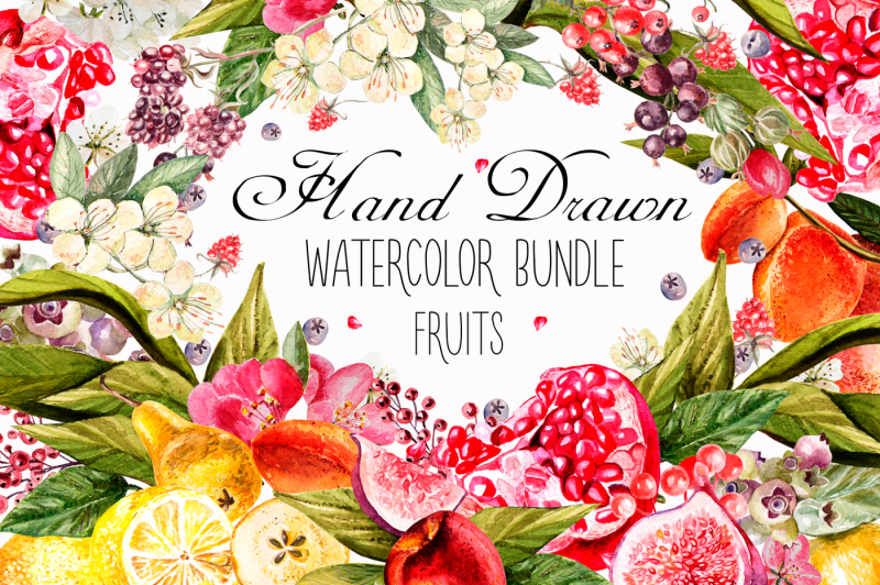 hand-drawn-watercolor-bundle-fruits