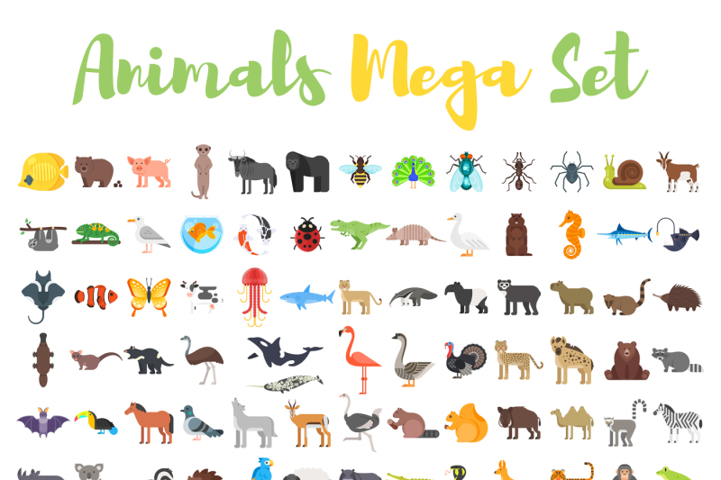 mega-set-of-flat-animals