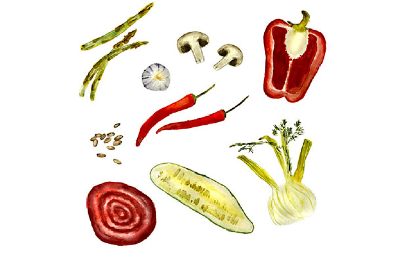 hand-drawn-watercolor-vegetables
