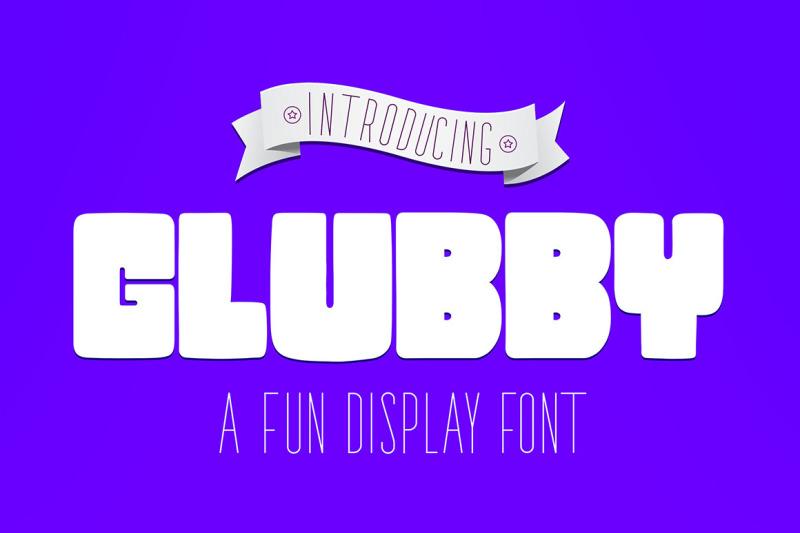 glubby-fun-display-font