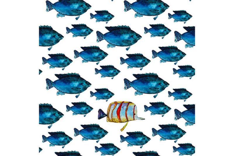 2-hand-drawn-fish-patterns