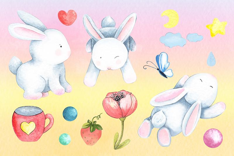 cute-watercolor-rabbits