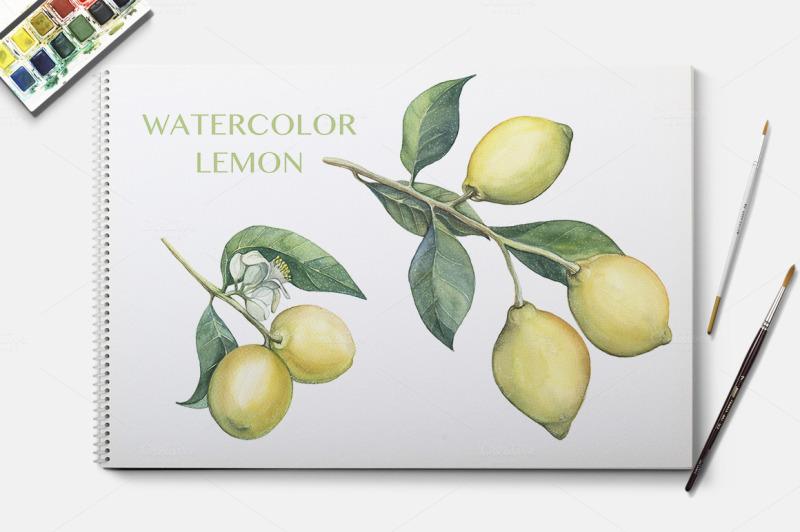 watercolor-lemon-branches