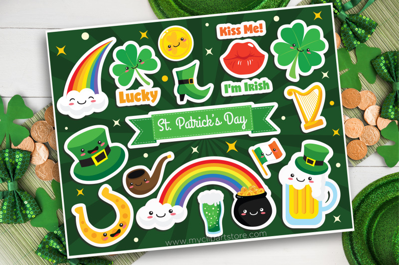 st-patrick-clipart-stickers-leprechaun-vector-sublimation-svg