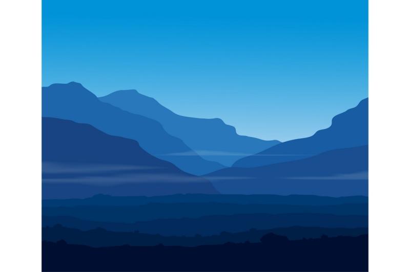 landscape-with-huge-blue-mountains
