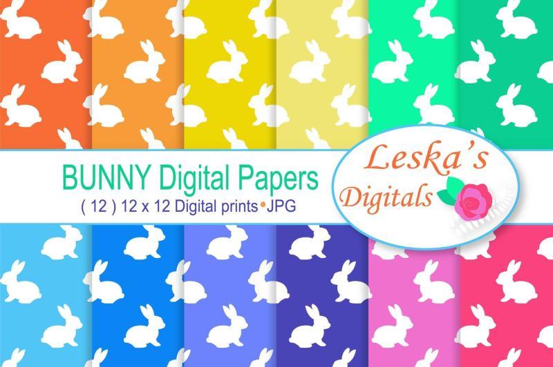 digital-paper-bunny-rabbit
