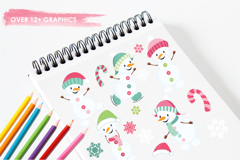 happy-snowman-graphics-and-illustrations
