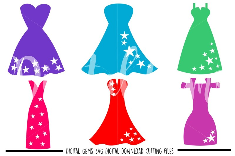 dress-svg-dxf-eps-png-files