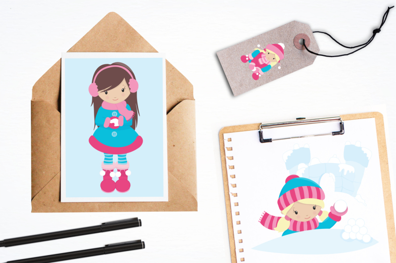 snow-fun-girls-graphics-and-illustrations