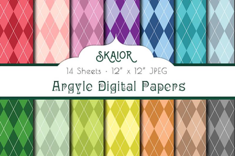 rainbow-argyle-digital-papers