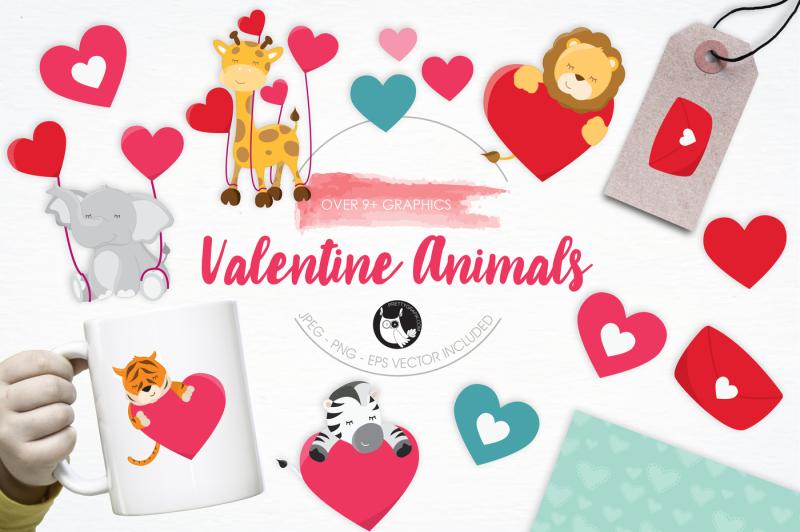 valentine-animals-graphics-and-illustrations