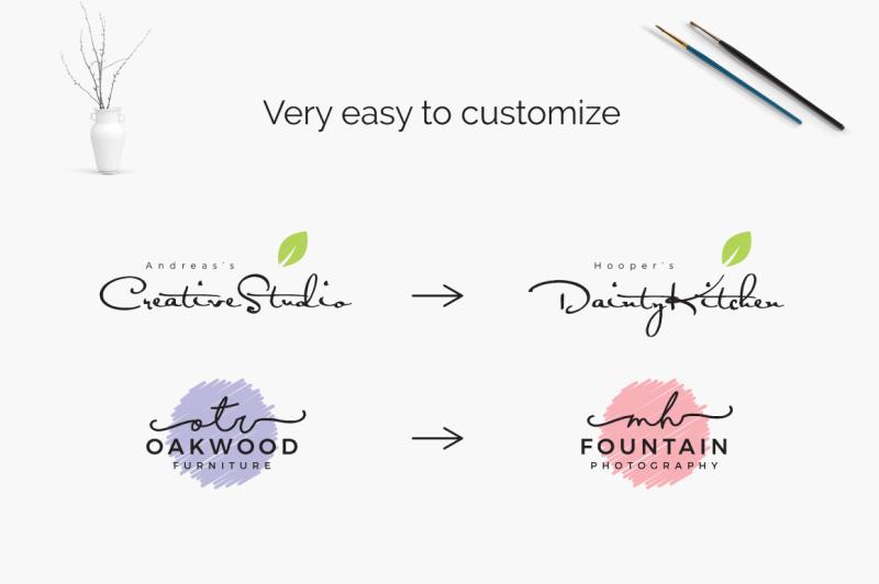 feminine-minimal-branding-logo-pack