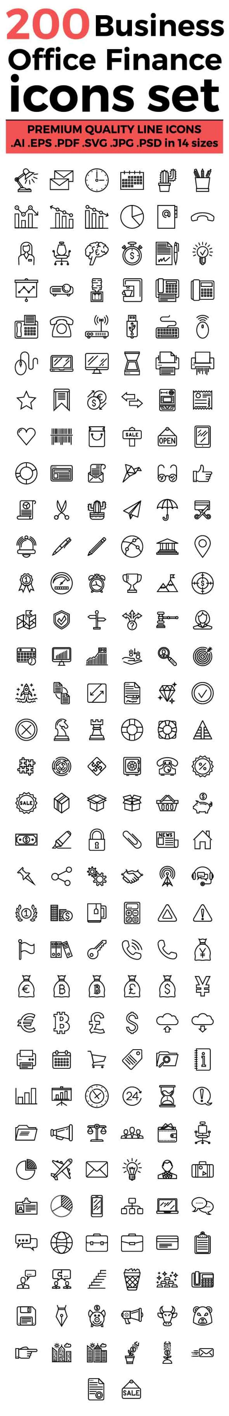 business-office-and-finance-icons-set