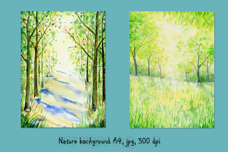 watercolor-nature-background-spring