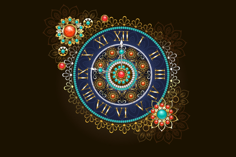clock-with-beads