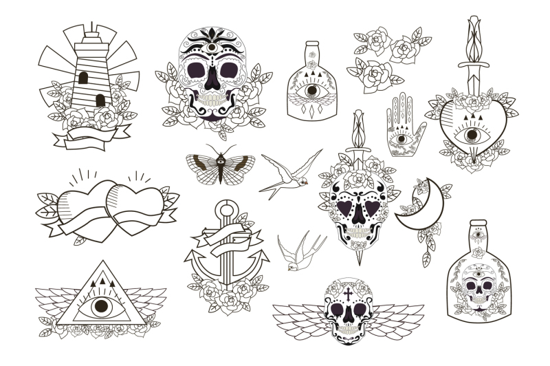 old-school-vector-tattoo-sketch-by-mio-buono-in-graphics-objects
