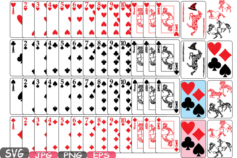 poker-playing-svg-silhouette-cards-clipart-suits-casino-horse-games-design-cameo-cutting-vinyl-cut-design-instant-download-king-queen-586s