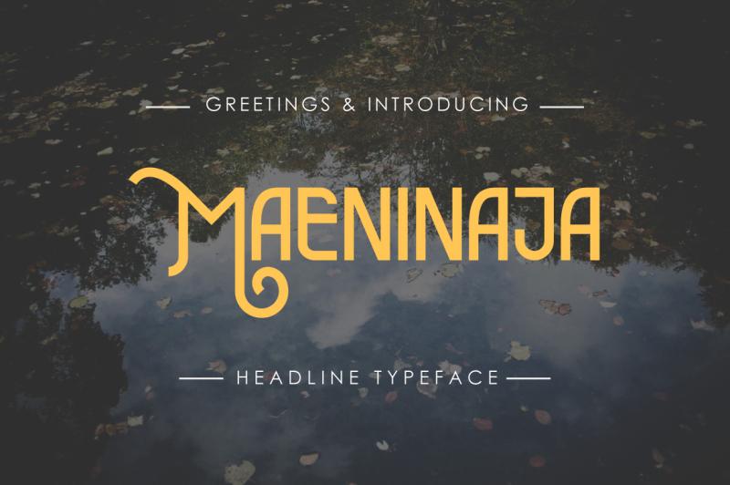 maeninaja-typeface