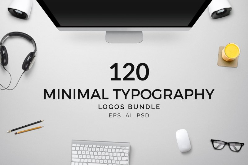 120-minimal-typography-logo-pack