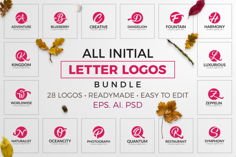 all-initial-letter-logos-bundle