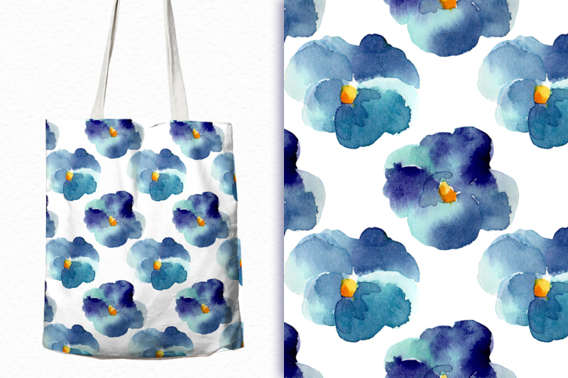 watercolor-seamless-patterns-with-violets
