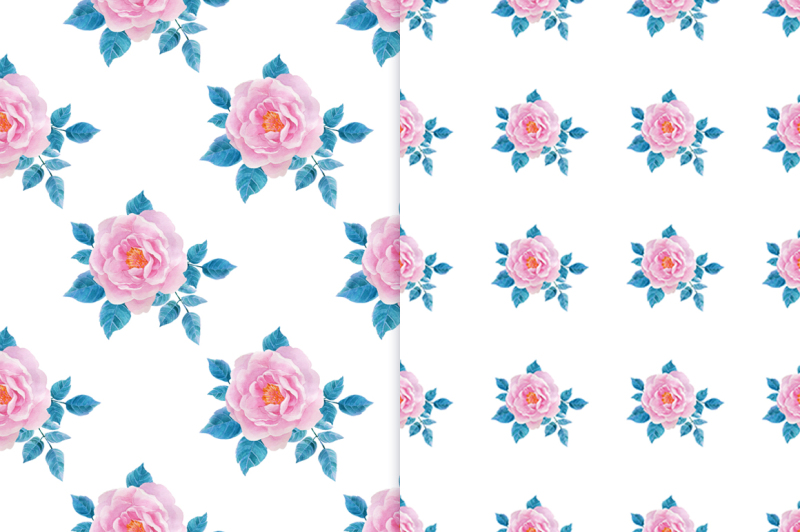 watercolor-seamless-patterns-with-roses
