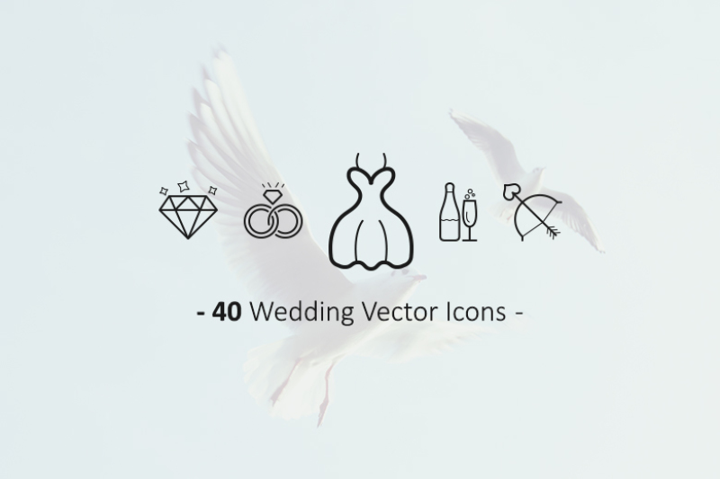 40-outline-wedding-icons