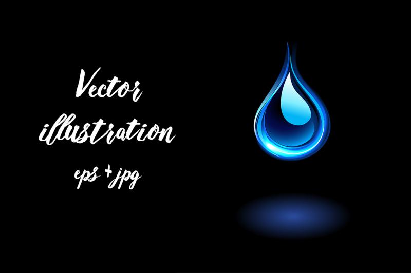 glowing-water-drop