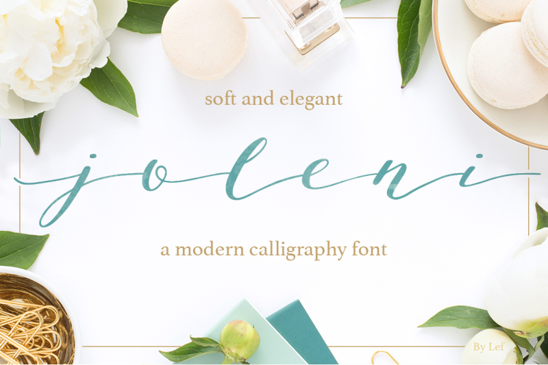 Joleni Font Modern Calligraphy Font By By Lef Thehungryjpeg Com