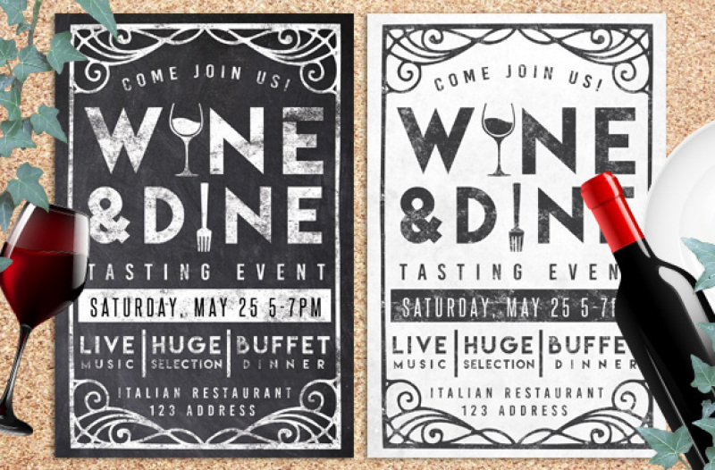 wine-and-dine-event-chalk-flyer-invite