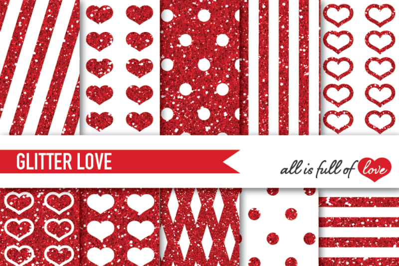 red-glitter-digital-paper-pack-red-sparkle-background