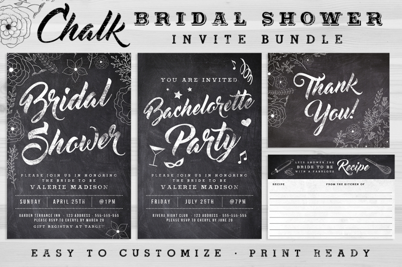 chalk-bridal-shower-invite-bundle