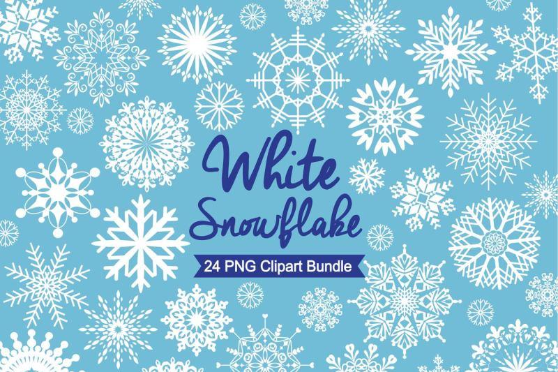 white-snowflake-clipart