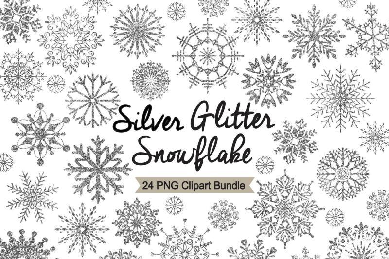 silver-glitter-snowflake-clipart