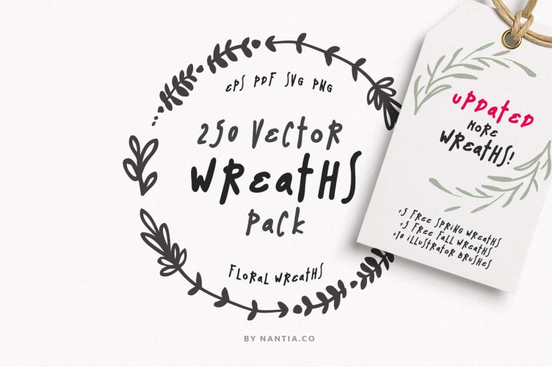250-wreaths-vector-megapack