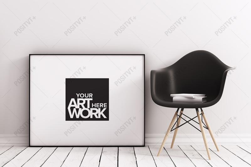 Free Frame Mockup Minimalist Scandinavian - Landscape (F193L) (PSD Mockups)
