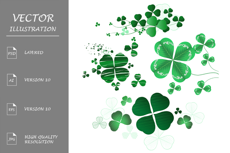 four-leaf-clover-on-a-white-background