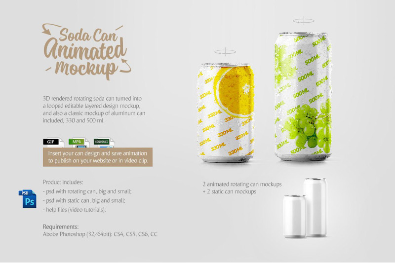 Download Energy Drink Can Mockup Psd Free Yellowimages